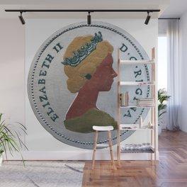 Queen Elizabeth - 25 cents - The Queens Mint Series Wall Mural