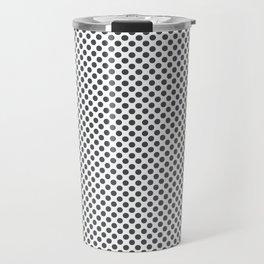 Dark Shadow Polka Dots Travel Mug