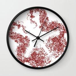 Study in Symmetry (No. 1) | Maroon Wall Clock