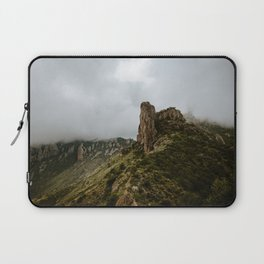 Foggy Mountaintop at Lost Mine Trail, Big Bend - Panoramic Laptop Sleeve