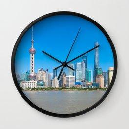 Shanghai Skyline - Summer Wall Clock