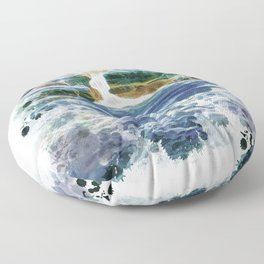 Abstract rock pool in the rough rocks Floor Pillow