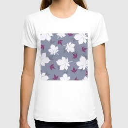 Serene Leaves Pattern T-shirt