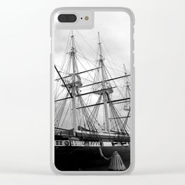 A Sail Warship The USS Constellation Clear iPhone Case