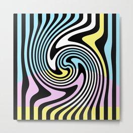 Simple Swirl Abstrac Geometry Metal Print