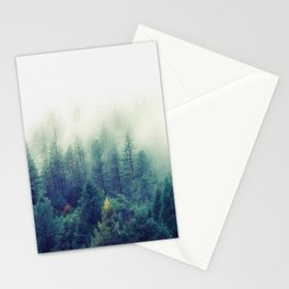 Foggy forest watercolor painting #8 Stationery Cards