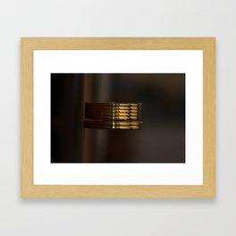 Desk clock Framed Art Print