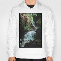 alaska Hoodies featuring Alaska Waterfall by Leah Flores