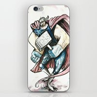 thor iPhone & iPod Skins featuring Thor by Crooked Octopus