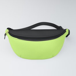 Lime And Black Block Fanny Pack