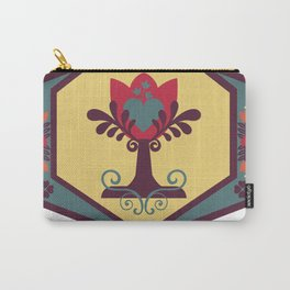 Tree of Life - Folk Art Carry-All Pouch