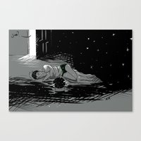astronomy Canvas Prints featuring Astronomy Jim by Allie Morris