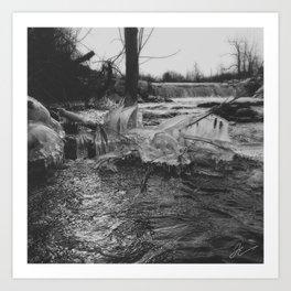 Winter streams Art Print