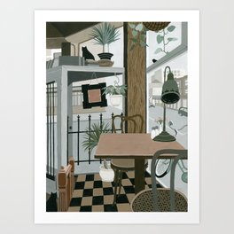 View from the Cafe Art Print