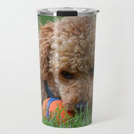 Poodle Puppy Travel Mug