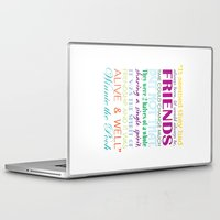 winnie the pooh Laptop & iPad Skins featuring Winnie the Pooh Friendship Quote - Bright Colors by Jaydot Creative