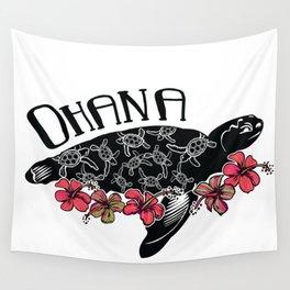 Hawaiian Ohana Turtle Wall Tapestry