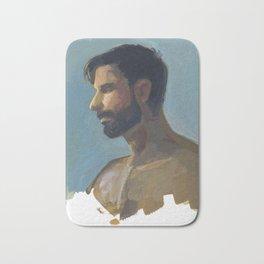 BRAD, Semi-Nude Male by Frank-Joseph Bath Mat