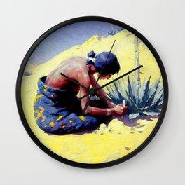 "William Leigh Western Art ""Gathering Peyote"" Wall Clock"