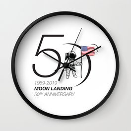 Moon landing 50th year anniversary Wall Clock