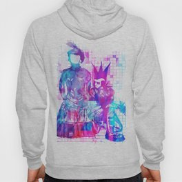 Cotton Candy Faceless Goth woman and punk dude Hoody