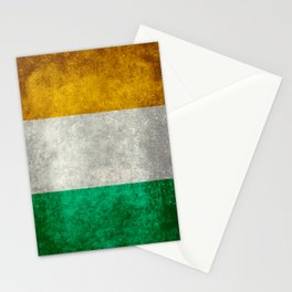 Republic of Ireland Flag, Vintage grungy Stationery Cards