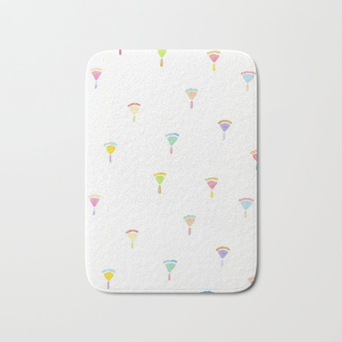 drawing flowers Bath Mat