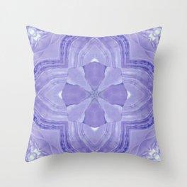 Jade Agate Stone Flower Violet Throw Pillow