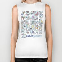 cabin pressure Biker Tanks featuring Cabin Pressure - From A to Z by enerjax