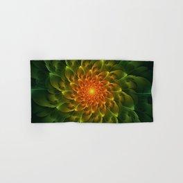 Beautiful Orange-Green Desert BarrelCactus Spiral Hand & Bath Towel