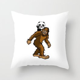 Gone Squatchin with Panda Throw Pillow