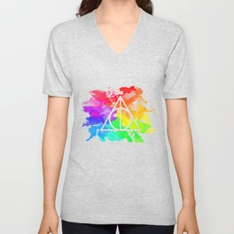 Rainbow Hallows  Unisex V-Neck