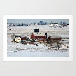 Back Home On The Farm Art Print