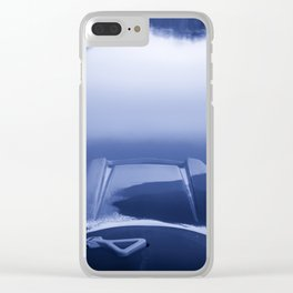 Smooth Sailing kayaking monochrome reflections Clear iPhone Case