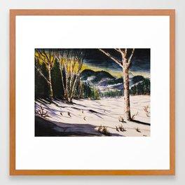 unthawed winter morn Framed Art Print