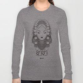 Akha Hilltribe Lady / White Long Sleeve T-shirt