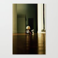 charlie brown Canvas Prints featuring Charlie Brown & Snoopy by Nima Nakhshab