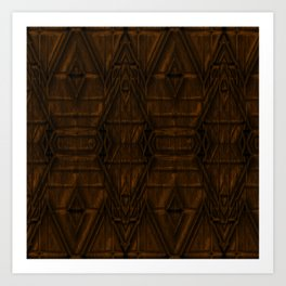 Coppery African Pyramid Art Print