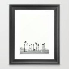 Bleached Beach Framed Art Print