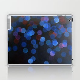 No. 45 - Print of Deep Blue Bokeh Inspired Modern Abstract Painting  Laptop & iPad Skin