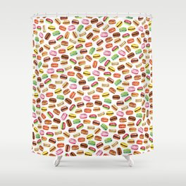 Macarons, French Macarons Art Shower Curtain