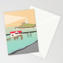 Mumbles Pier & Lighthouse, Swansea Bay, South Wales Stationery Cards