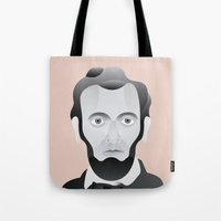 lincoln Tote Bags featuring LINCOLN by armantas