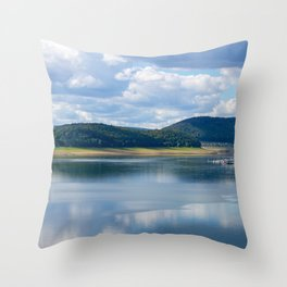 Lake view - Edersee, Hessen, Germany Throw Pillow