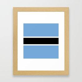 Flag: Botswana Framed Art Print