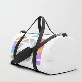 Watercolor Photography camera- Rainbow colored photography lover Duffle Bag