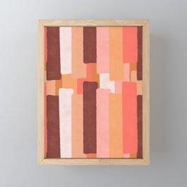 Line In Coral #society6 #abstractart Framed Mini Art Print