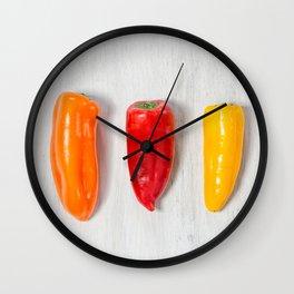 Pepper Still Life Wall Clock