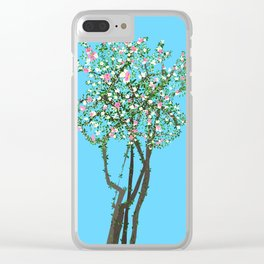 Early Spring (Blue) Clear iPhone Case