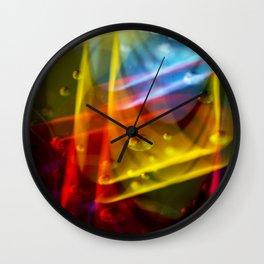 Neon Storm Nightlife Bubbles  Wall Clock